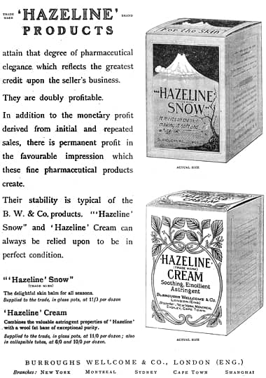 Cosmetics and Skin: Hazeline Snow