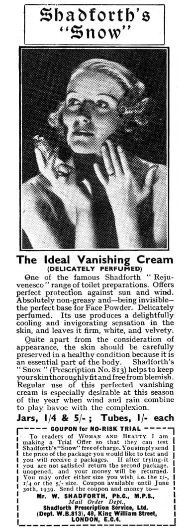 Cosmetics and Skin: Vanishing Creams