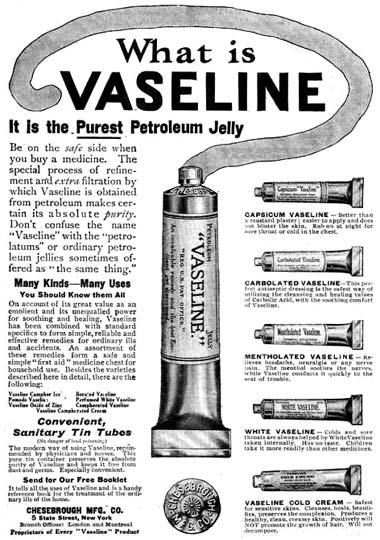 Cosmetics and Skin: Petrolatum/Petroleum Jelly