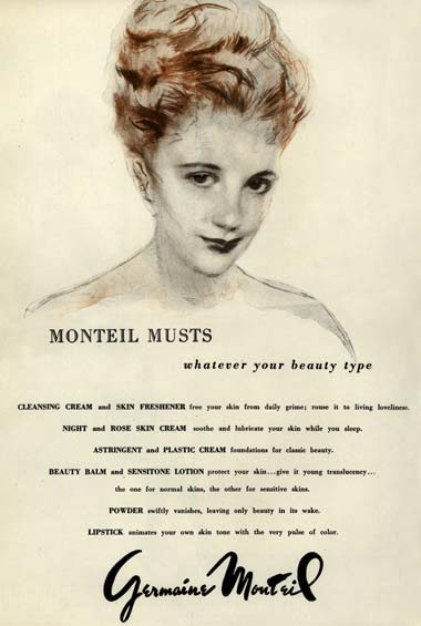 1946 Germaine Monteil Skin Freshener and Astringent.