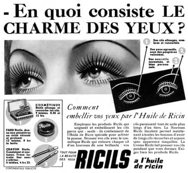 aabeda6531b 1939 Ricils. 1939 Ricils. 1946 Aziza cake mascara