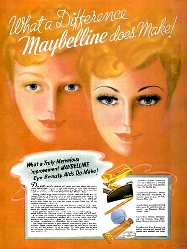 1937 Maybelline advertisment