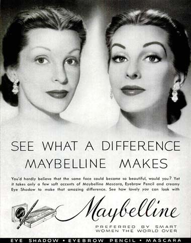 1952 Maybelline advertisement