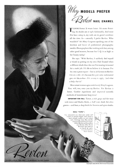 1945 Peggy Sage Hand Victorian Rose Fingernail Nail Polish Original Beauty Ad Other Collectible Ads